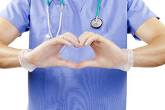 Finger doctor heart. Stock Photography