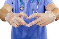 Finger doctor heart. Stock Photography