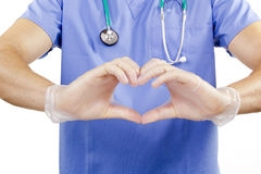 Finger doctor heart. Stock Images
