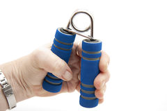 Finger dumbbells with hand Stock Image