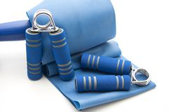 Finger dumbbells with ribbon Stock Images