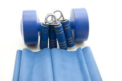 Finger dumbbells with ribbon Stock Image