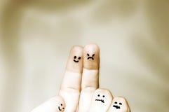 Finger einer Familie Lizenzfreie Stockfotos