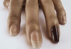 Finger einer tadellos natürlichen Hand stockfotos