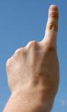 finger ett Fotografering för Bildbyråer