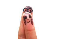 Finger face Royalty Free Stock Images