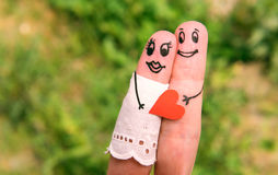 Finger Family. Art of hand Royalty Free Stock Photography