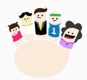 Finger family Stock Photo