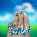 Finger family travels at the beach and family. Word as concept Stock Photos