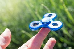 Hype about Fidget Spinner stock images