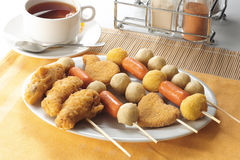 Finger food. Several various kinds of finger food ready to be served Stock Images