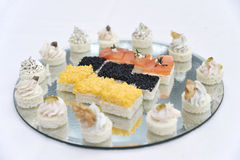 Finger food. Some little finger food in a wedding banquet royalty free stock photo