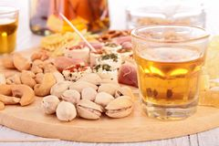 Finger food and alcohol Royalty Free Stock Image