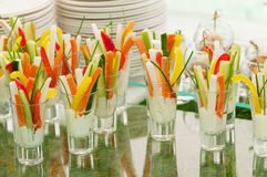 Finger food. Appetizers served in a modern style Stock Image