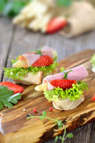 Finger food with asparagus Royalty Free Stock Photo