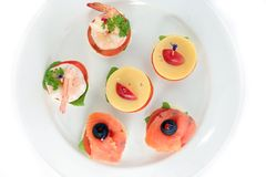 Finger food or canape Royalty Free Stock Image