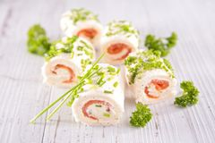 Finger food, canape Stock Photo