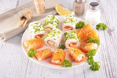 Finger food, canape Stock Image