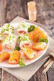 Finger food, canape Royalty Free Stock Photos
