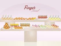 Finger food. Cute illustration of finger food Stock Images