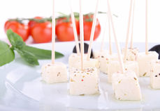 Finger food, feta cheese Royalty Free Stock Photos