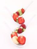 Finger food , fruits on white Royalty Free Stock Photo