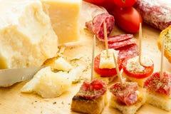 Finger food salami Stock Photos