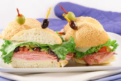 Finger food sandwiches royalty free stock photography