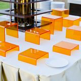 Finger food Stand display - ready to serve Stock Images