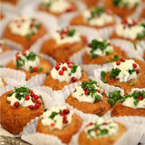 Finger food or tapas. Close up - square Royalty Free Stock Photo
