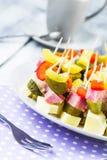 Finger foods toothpicks appetizer Stock Photo