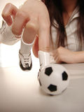 Finger football Stock Photo