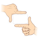 Finger Frame. Focusing hands - Finger frame - vector illustration. To see similar - please visit at my gallery Royalty Free Stock Images