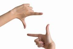 Finger Frame Royalty Free Stock Image