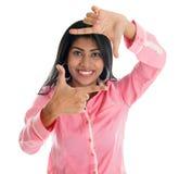 Finger frame. Stock Images