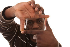 Finger framming Royalty Free Stock Photos