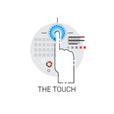 Finger Gesture Touch Screen Sign Icon. Vector Illustration Royalty Free Stock Photos