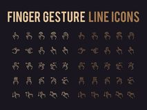 Finger gesture vector line icon - app and mobile web responsive Stock Images