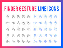 Finger gesture vector line icon - app and mobile web responsive. Finger gesture vector line icon for app and mobile website responsive Royalty Free Stock Image