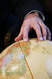 Finger Globe Royalty Free Stock Photos