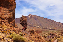Finger Of God rock at volcano Teide in Tenerife island - Canary Royalty Free Stock Images