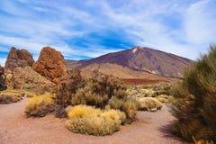 Finger Of God rock at volcano Teide in Tenerife island - Canary Stock Photo
