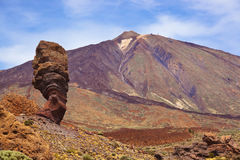 Finger Of God rock at volcano Teide in Tenerife island - Canary Stock Photo