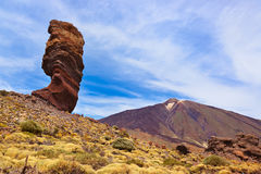 Finger Of God rock at volcano Teide in Tenerife island - Canary Stock Images