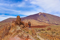 Finger Of God rock at volcano Teide in Tenerife island - Canary Stock Photos