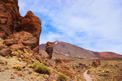 Finger Of God rock at volcano Teide in Tenerife island - Canary Royalty Free Stock Photos
