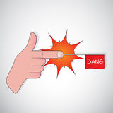 Finger gun - bang Royalty Free Stock Photos