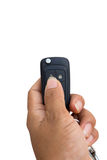 Finger hand. Finger pressing a car remote control Stock Photos