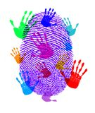 Finger Hand Prints Print Royalty Free Stock Photography
