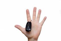 On the finger hang the car keys Stock Photo